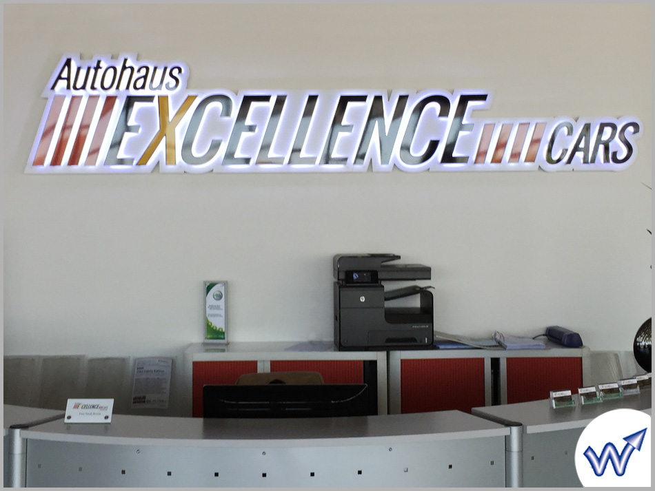 Excellence Cars Innenwerbung