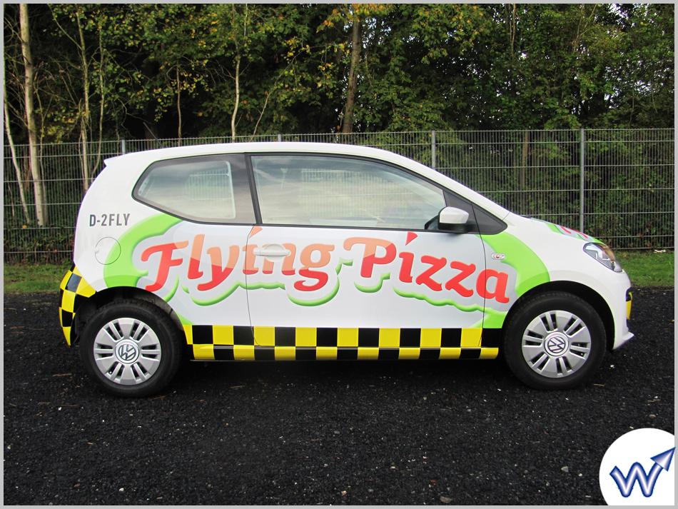 Flying Pizza Karte.Fahrzeugbeschriftung Die Werbetechniker